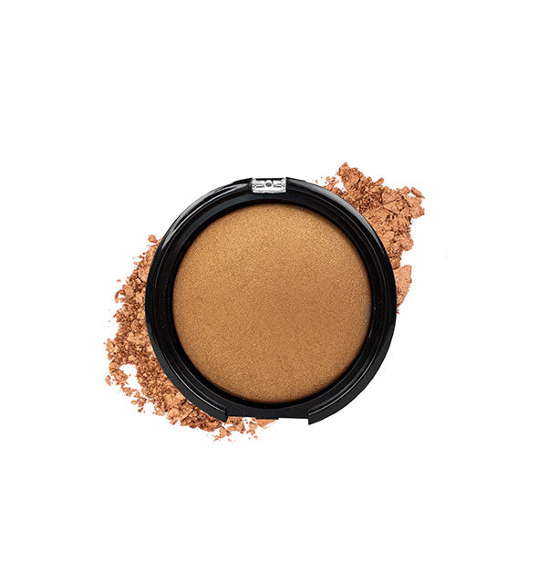 A compact of Palladio Baked Bronzer in the shade Caribbean Tan.