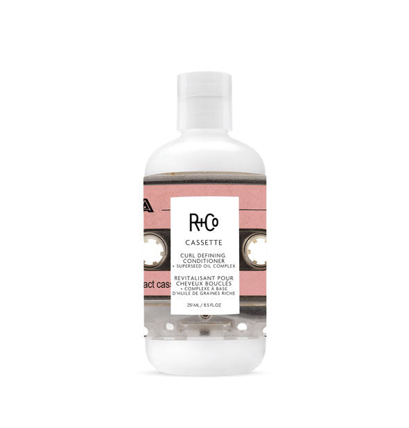 A  bottle of Cassette Curl Conditioner + Superseed Oil Complex from R+Co