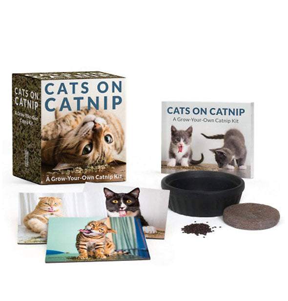 Contents of Cats on Catnip: A Grow-Your-Own Catnip Kit