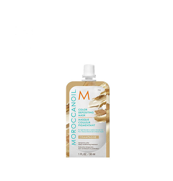1 ounce pack of Moroccanoil Color Depositing Mask in Champagne