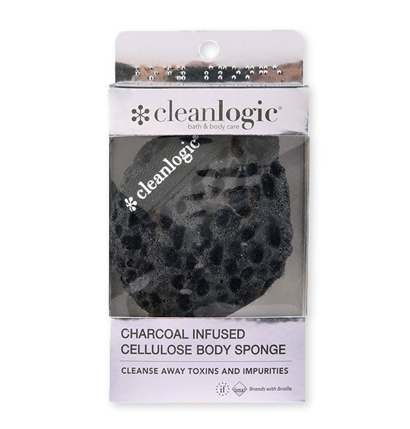 Charcoal Infused Cellulose Body Sponge