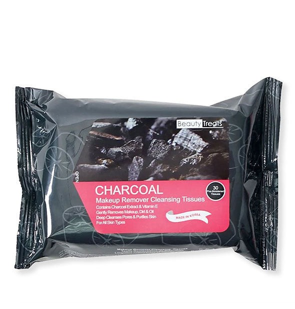Beauty Treats Charcoal Makeup Remover Cleansing Tissues