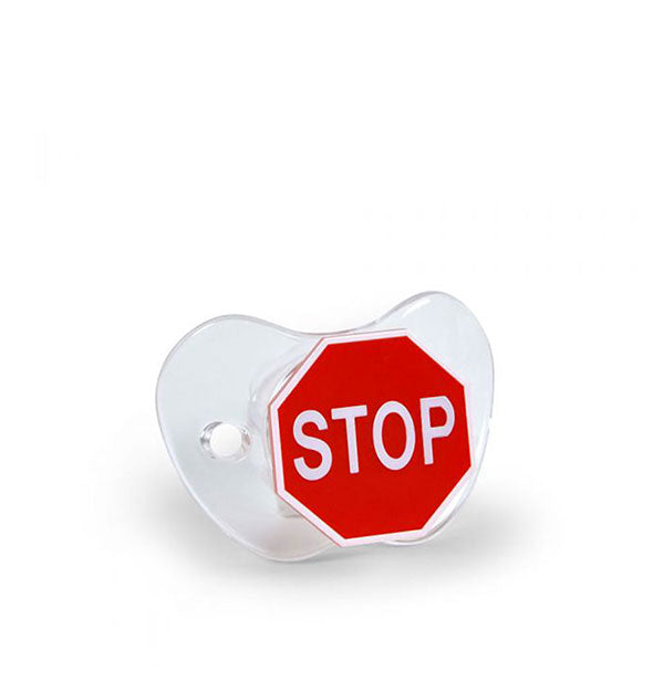 Stop Sign baby Pacifier
