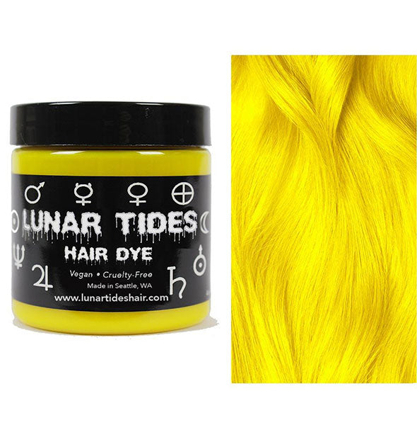 semi permanent hair dye in citrine yellow