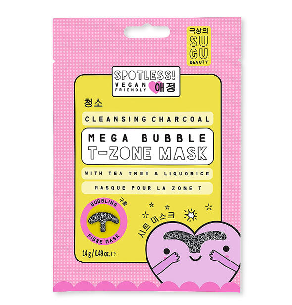Cleansing charcoal Mega-bubble T-Zone mask with tea tree & licorice by SUGU