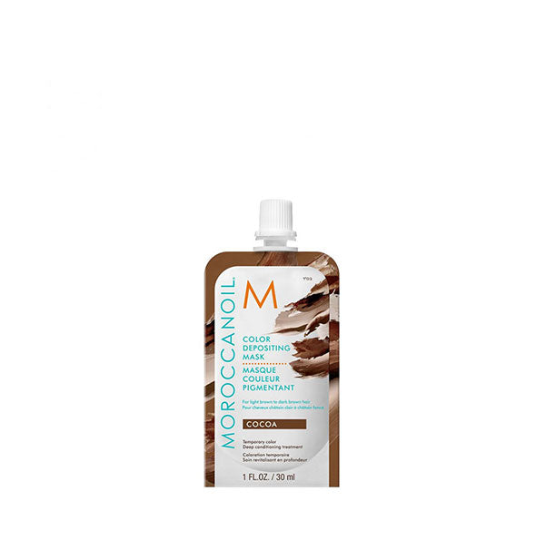 1 ounce pack of Moroccanoil Color Depositing Mask in Cocoa
