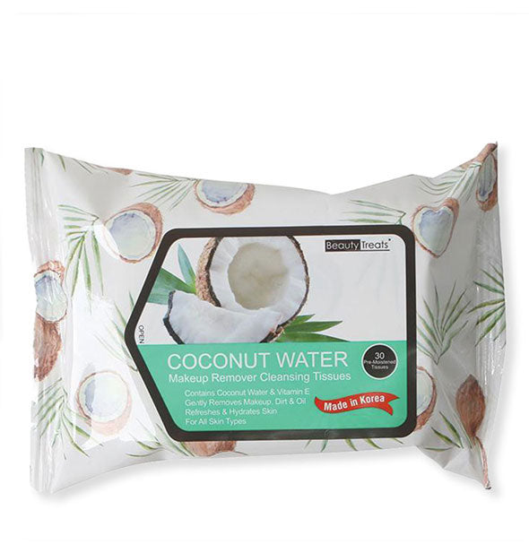 Beauty Treats Coconut Water Makeup Remover Cleansing Tissues