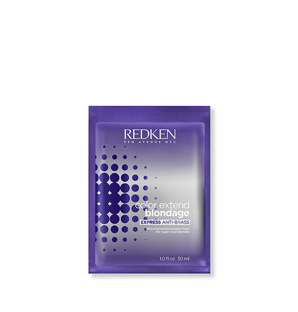 One Packet of Color Extend Blondage Express Anti-Brass Ultra-Pigmented Purple Mask Foil Pack by Redken