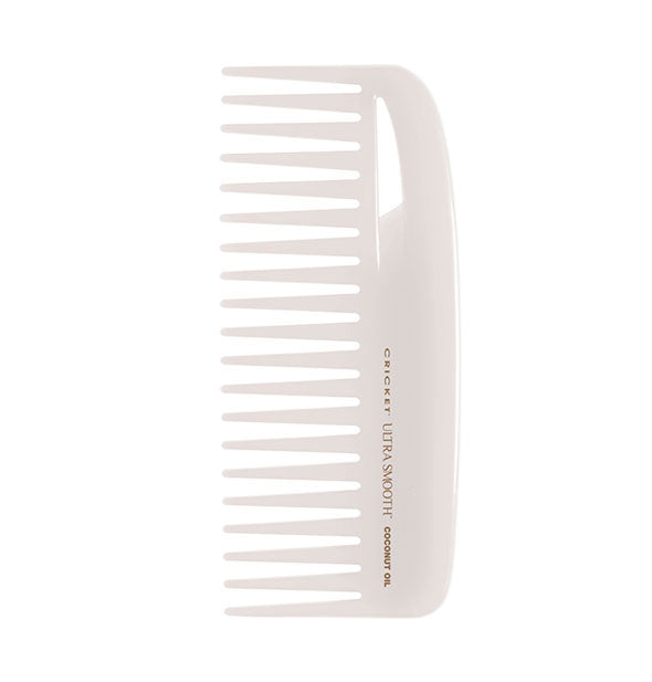 White Ultra Smooth Coconut Oil Comb Conditioning