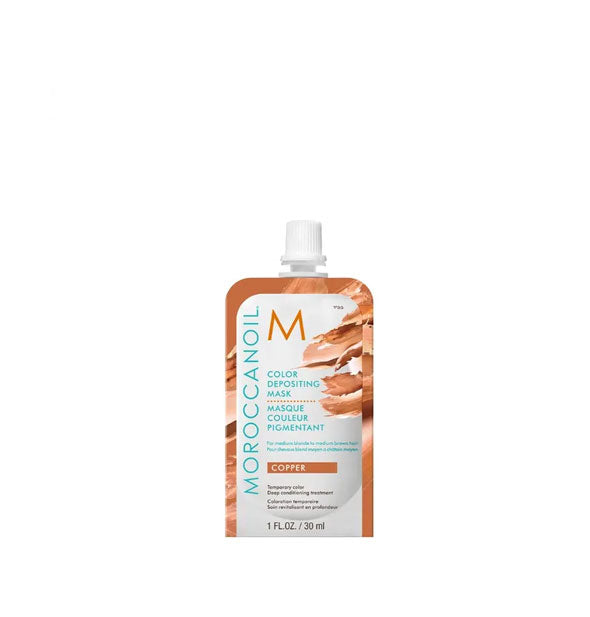 1 ounce pack of Moroccanoil Color Depositing Mask in Copper