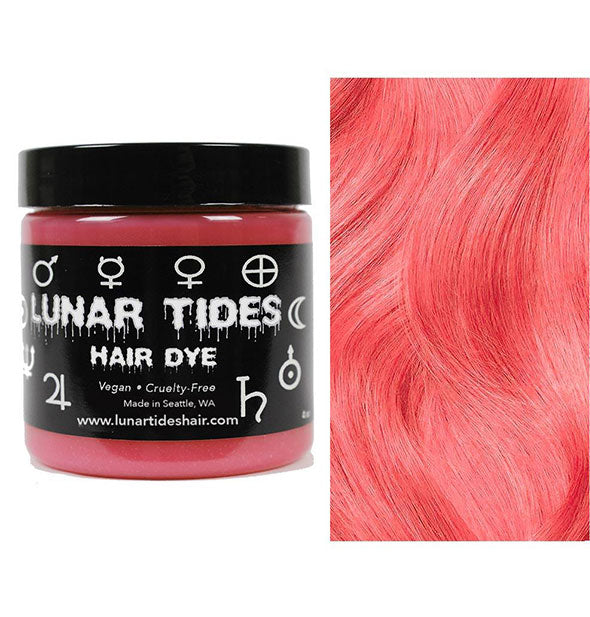 semi permanent hair dye in coral pink