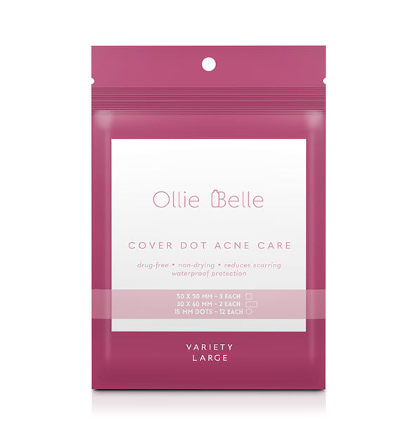 Variety pack of Ollie Belle Cover Dot Acne Care patches