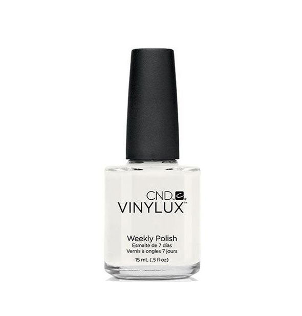 A bottle of weekly polish in the shade Cream Puff.
