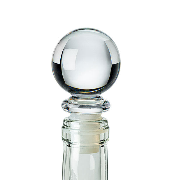Acrylic ball bottle stopper