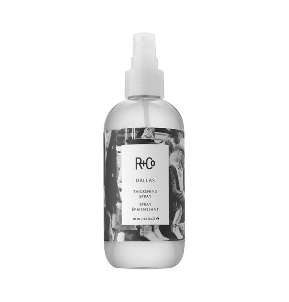 8.5 ounce bottle of R+Co Dallas Thickening Spray