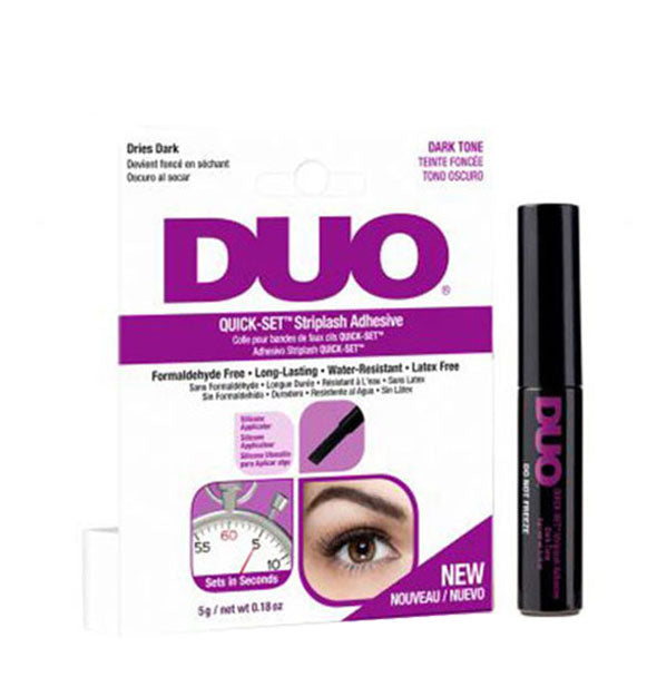 Dark Tone Duo Quick Set Striplash Adhesive Water Resistant Latex Free