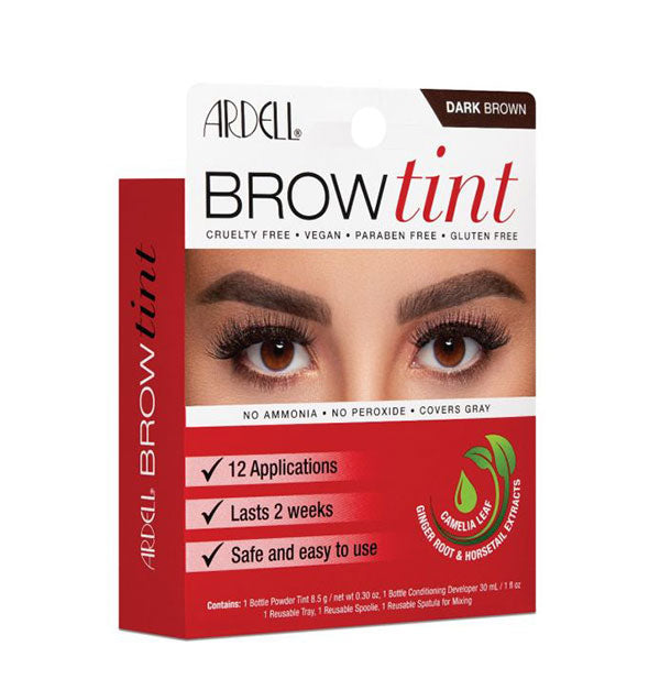 Dark Brown Brow Tint Kit 12 Applictions