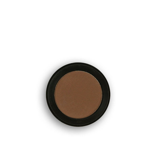 Dark brown pressed powder eyeshadow