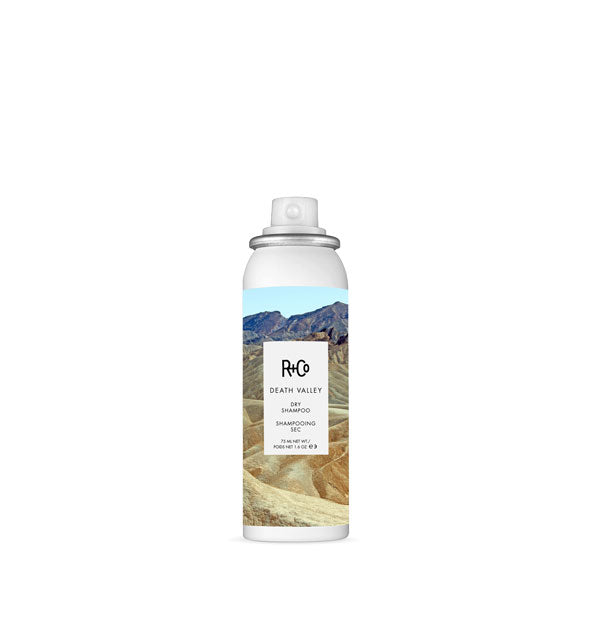 1.6 ounce can of R+Co Death Valley Dry Shampoo