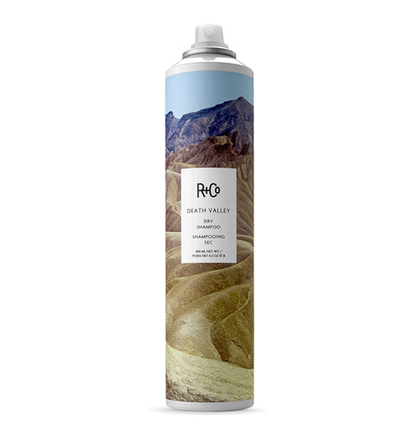 6.3 ounce can of R+Co Death Valley Dry Shampoo