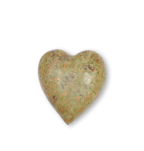 Decorative soapstone heart with mottled coloring