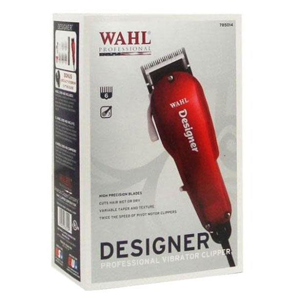 DESIGNER professional vibrator clippers in RED