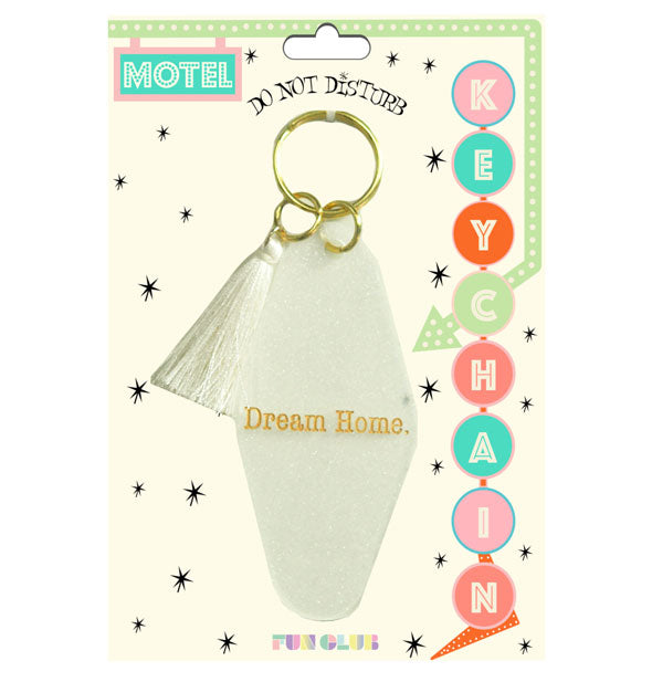 Dream Home Glitter Motel Keychain With Tassel