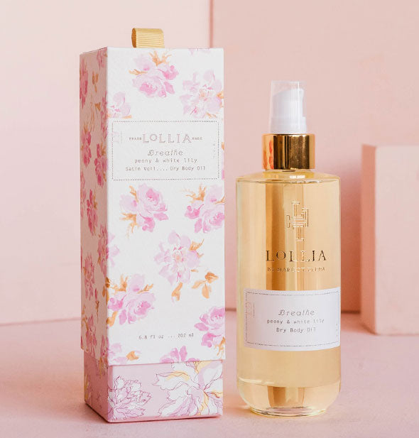 peony and white lily dry body oil