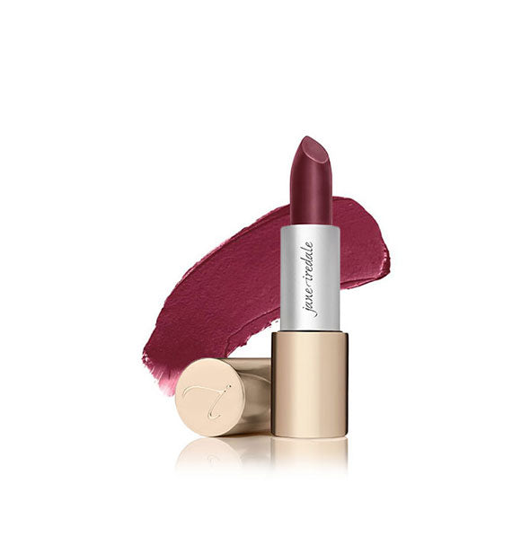 A tube of Jane Iredale Triple Luxe lipstick in the shade Ella