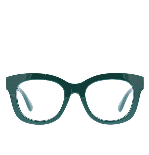 Front view of Peepers Center Stage Readers in Emerald.