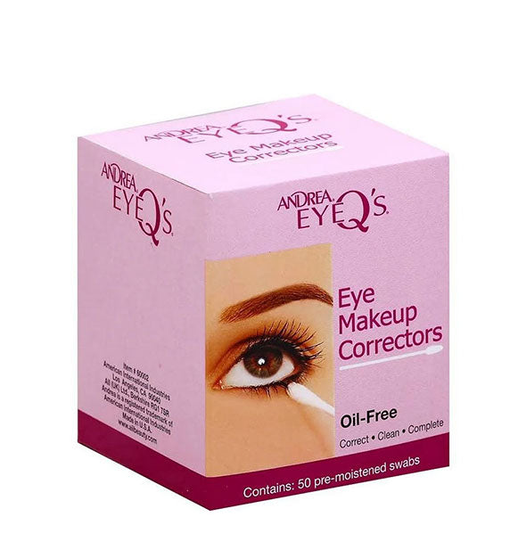 50 Oil Free Eye Makeup Corrector Swabs