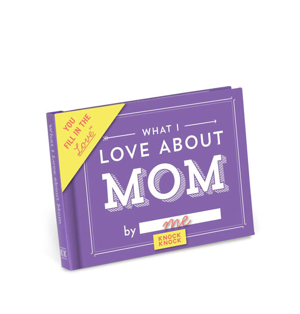 Purple cover of What I Love About Mom fill-in-the-blank book