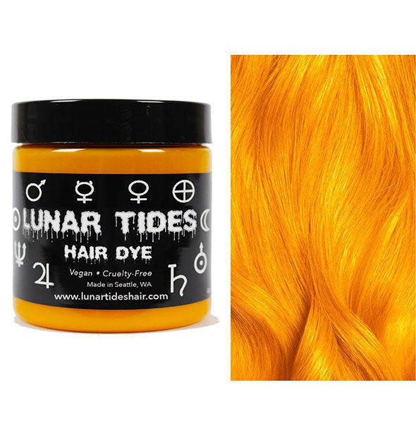 semi permanent hair dye in fire opal