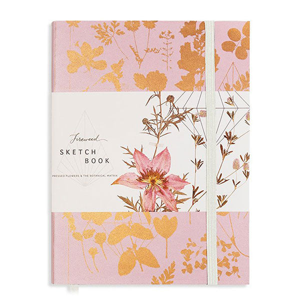 The Fireweed Pink Shine Sketchbook Pink and Gold