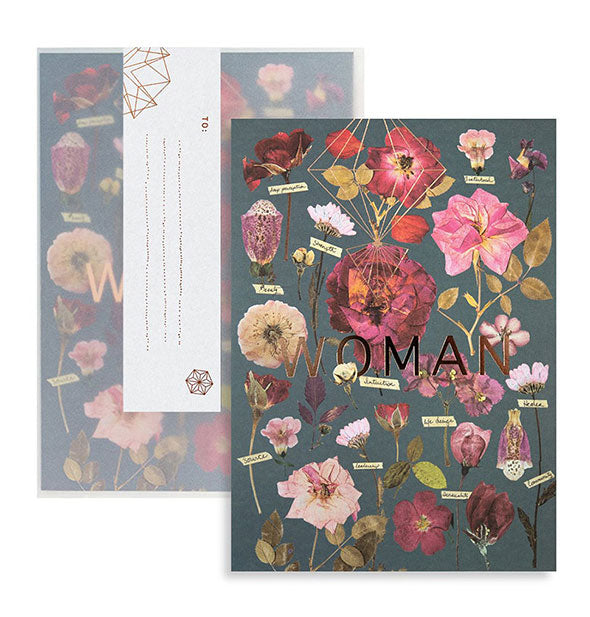 The Fireweed Woman Garden Card made with recycled paper