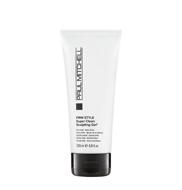 6.8 ounce bottle of Paul Mitchell Firm Style Super Clean Sculpting Gel