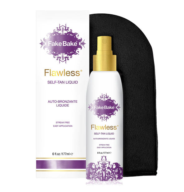 Fake Bake Flawless Self-Tan Liquid kit with applicator mitt