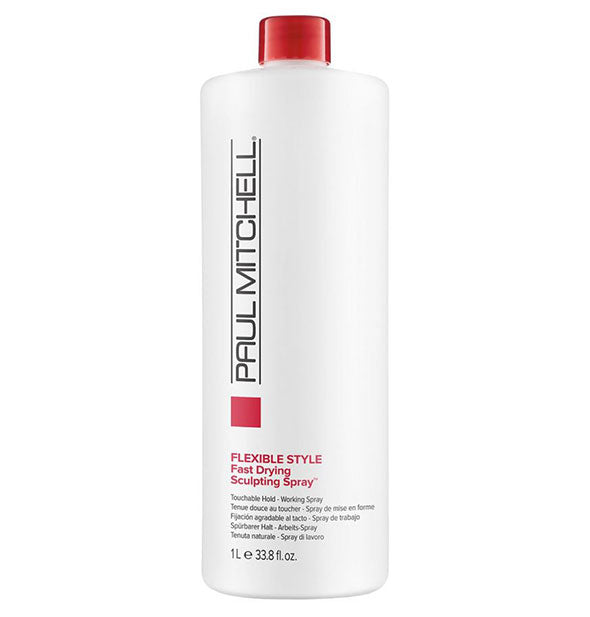 A One Liter bottle of Paul Mitchell Flexible Style Fast Drying Sculpting Spray