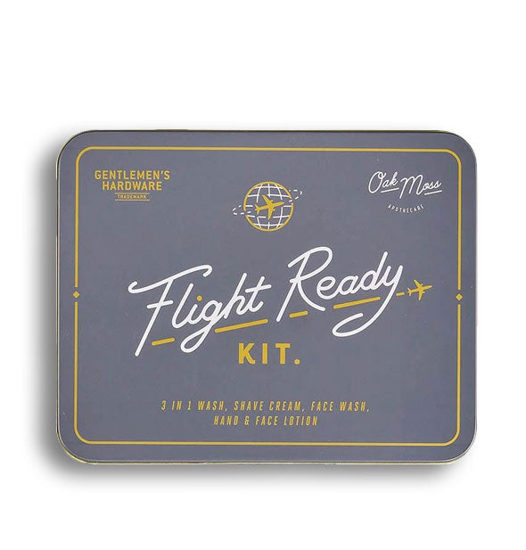 Denim-blue Gentlemen's Hardware Flight Ready Kit tin