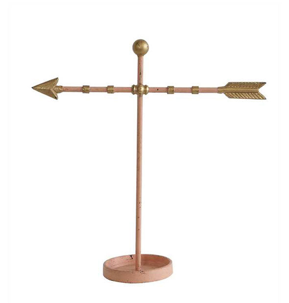 Metal arrow jewelry holder