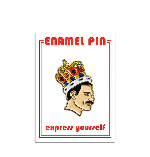 The Freddie Mercury with Crown Enamel Pin from The Found