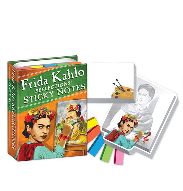 Frida Kahlo Reflections Sticky Notes in various shapes and sizes