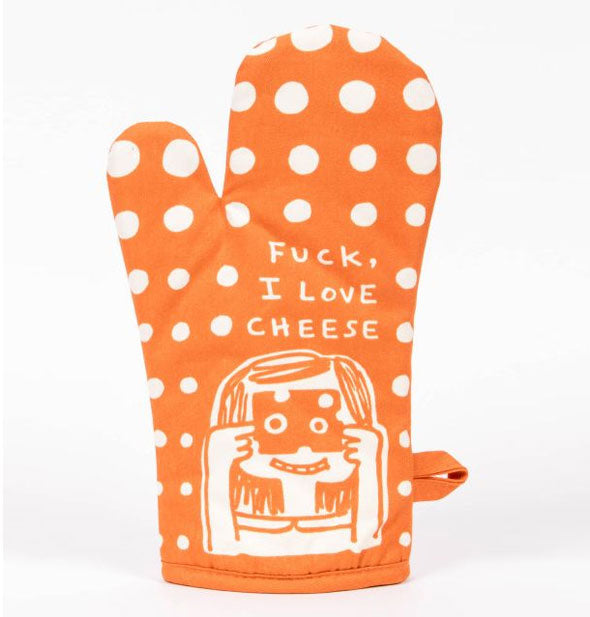 Blue Q - Fuck, I Love Cheese Oven Mitt (4460501303366)