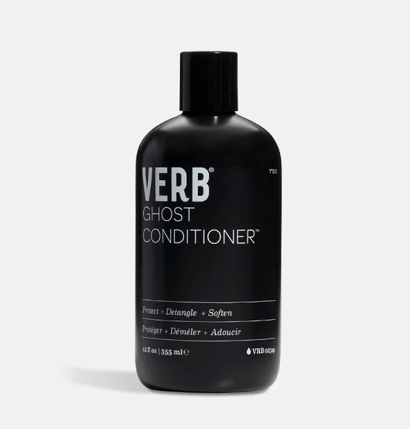 Black bottle of Verb Ghost Conditioner with white lettering