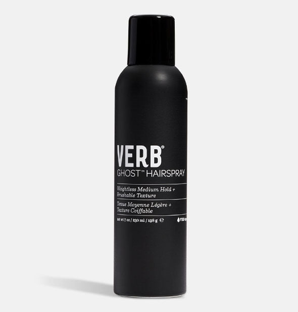 Black can of Verb Ghost Hairspray with white lettering
