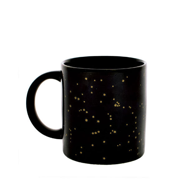 A black mug with gold stars Golden Constellations Mug