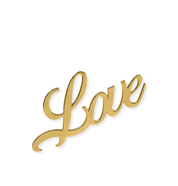 "Gold ""Love"" script bottle opener"