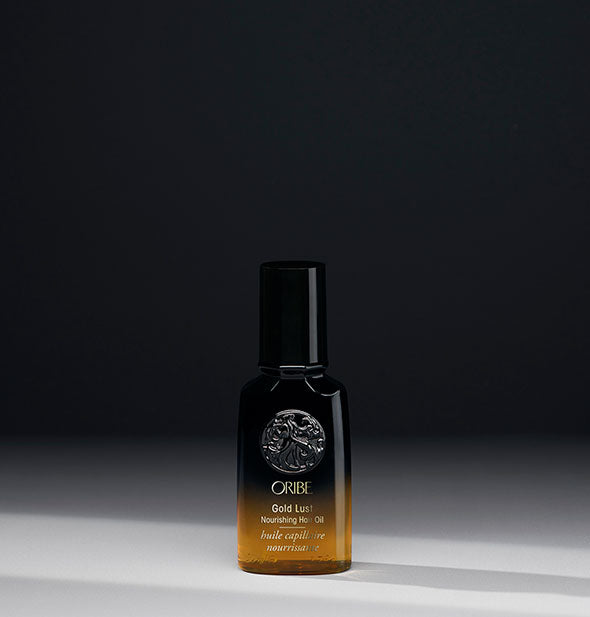 1.7 ounce black and gold bottle of Oribe Gold Lust Nourishing Hair Oil