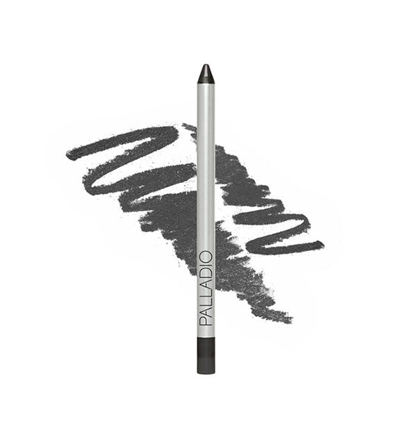 Palladio liner pencil in gray shade with sample squiggle behind