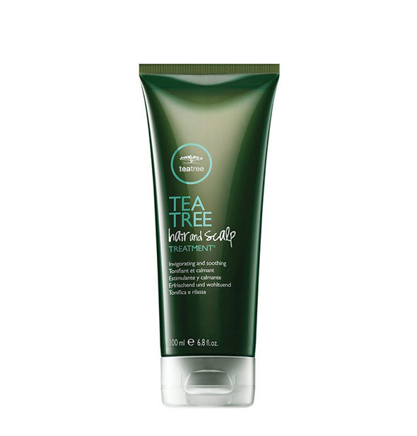 A squeeze bottle of Paul Mitchell Tea Tree Hair And Scalp Treatment VEGAN 6.8 fl OZ